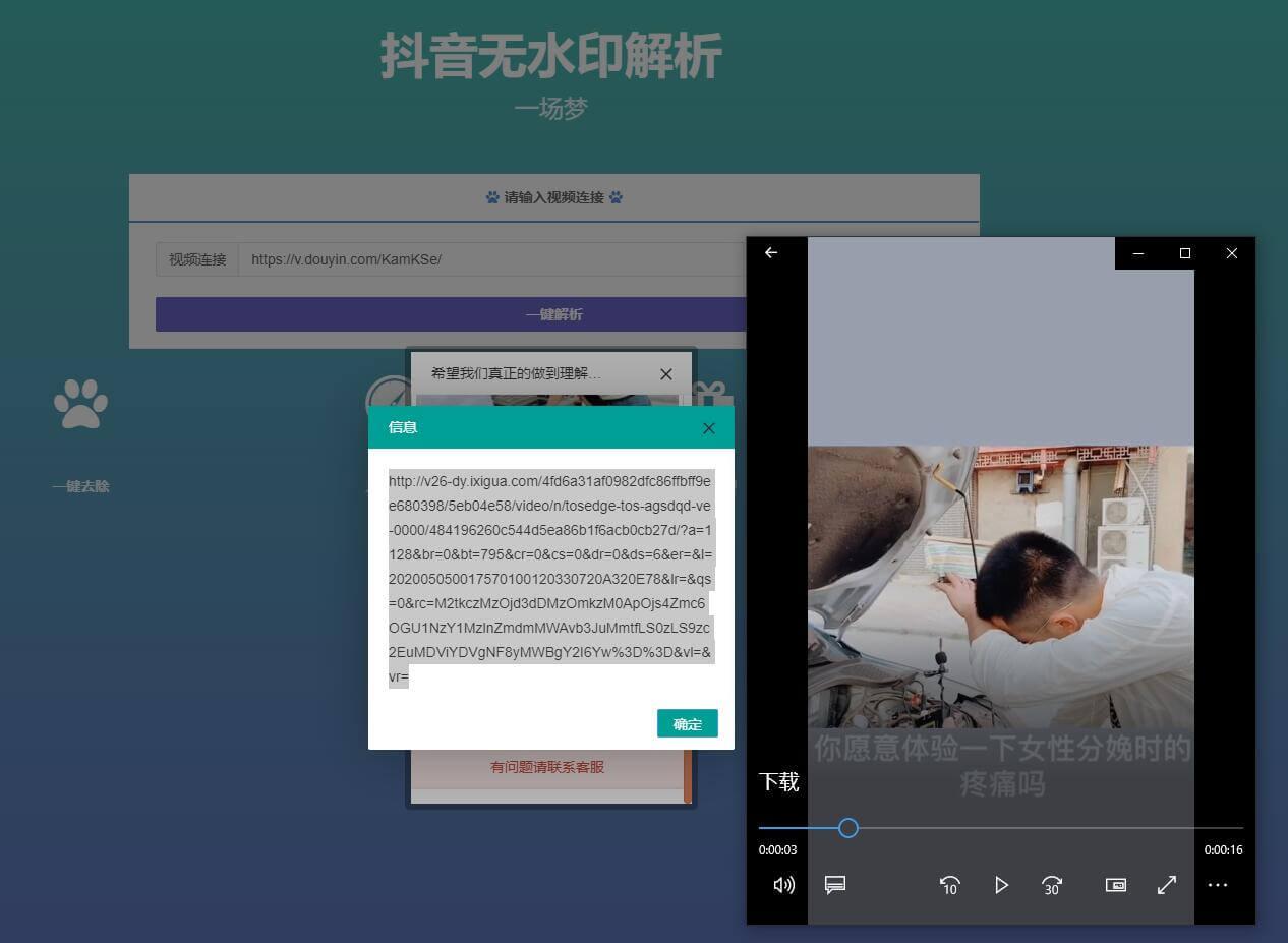 最新抖音短视频无水印解析视频PHP源码