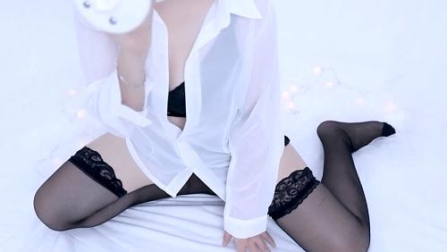 mimi ASMR白衬透明女友
